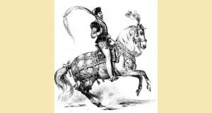 Fiaschi tel qu'il est représenté dans L'histoire pittoresque de l'équitation, Aubry (ed.1843).