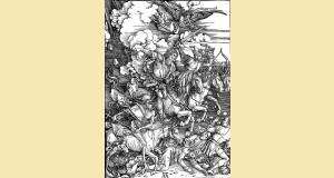 Gravure d'Albrecht Dürer représentant les Quatre cavaliers de l'Apocalypse.