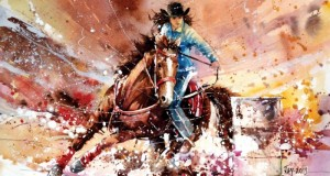 Dessin de Jay  http://abstractmusiq.deviantart.com/art/Speed-Painting-Barrel-Racing-436968482