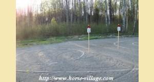 Zone du montoir, avec son cercle, photo Happy