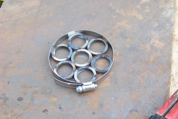 mettre les rondelles dans un collet
