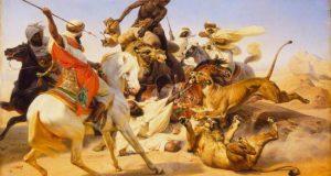 La chasse au lion par Horace Vernet