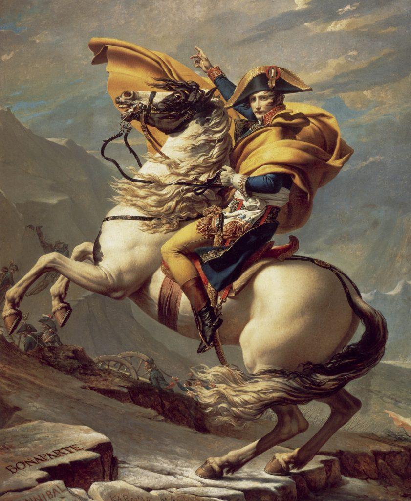 Napoléon traversant les Alpes, par David