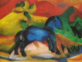 Tableau de Franz Marc le petit cheval bleu