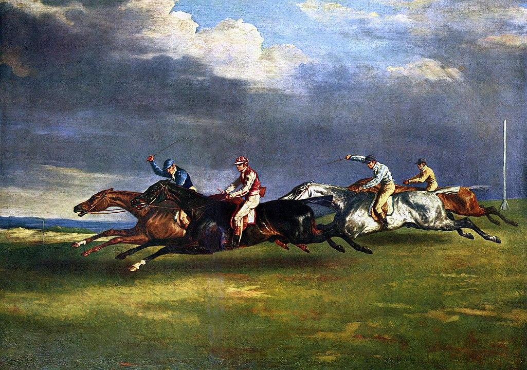 Le derby d'Epsom de Géricault
